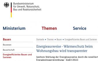 Energieausweis - Wärmeschutz beim Wohnungsbau